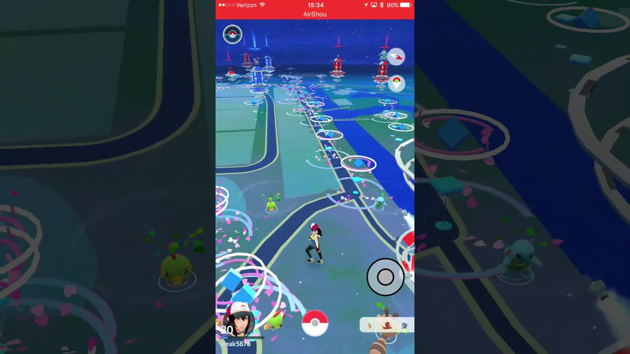 Pokemon Go GPX files combined with Go-tcha for hands free farming