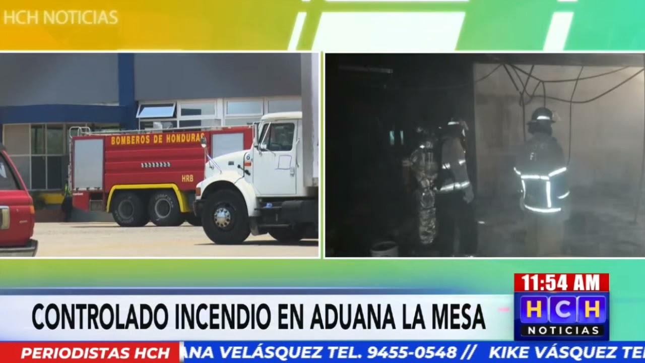 Bomberos sofocan conato de incendio en bodega de aduana