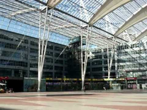 Munich Airport Concourse and Terminal 1 and 2 Map MOV08530.MPG