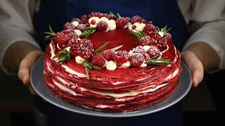 Очень Новогодний праздничный торт без выпечки без духовки Торт Красный бархат Так вкусно