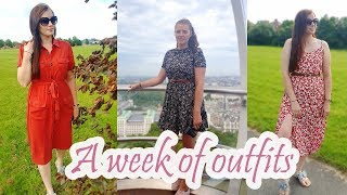 A WEEK OF OUTFITS | SUMMER OUTFITS | Sarah Dee