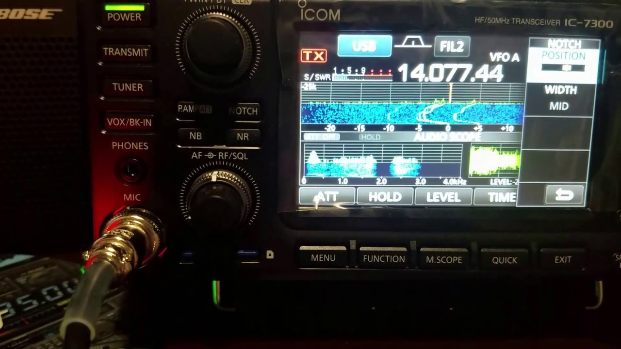 Icom Ic-7300 manual notch filter how to