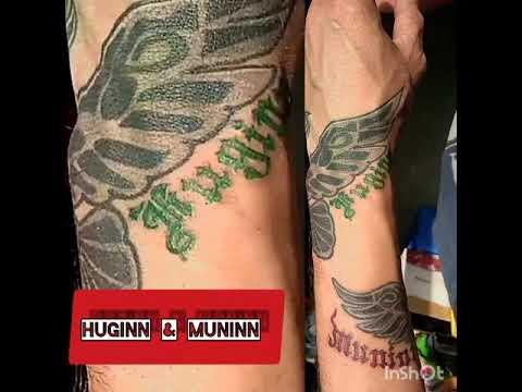 """Татуировка """"Вороны Одина"""""""