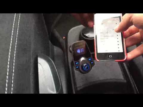 Pictek Transmetteur FM de Voiture Lecteur MP3 Commentaire, Transmetteur FM et appel muni d'un écran