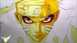 Speed Drawing Naruto Uzumaki Bijuu Sage mode うずまきナルト