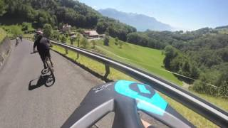 Rocher De Naye mountain, Swiss Alps, Mountain bike descent 2