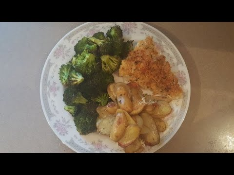 COOK WITH ME!! | CRISPY BAKED COD With CHEESY POTATOES & BROCCOLI | WW FREESTYLE!