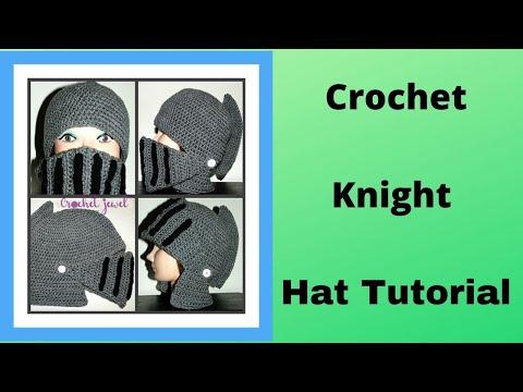 How To Crochet Boys Mans Knight Helmet Hat Mask Part 4 Youtube