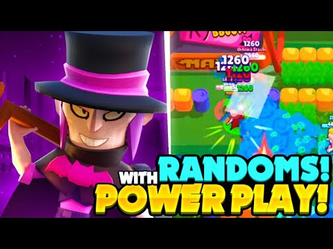 POWER PLAY TOP GLOBAL PLAYING MORTIS IN BRAWL BALL WITH RANDOMS