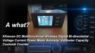 DC Multifunctional Wireless Digital Bi-directional Voltage Current Power Meter