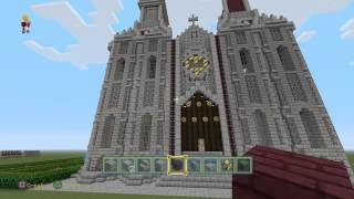 minecraft cathedral build ps4