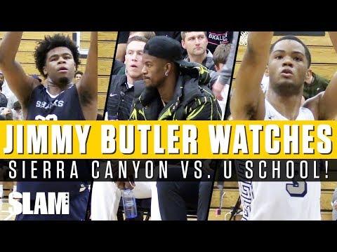 Jimmy Butler Watches Sierra Canyon vs. University School!