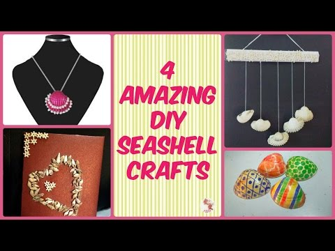four-amazing-seashell-craft-ideas-||-easy-diy-projects-||-homemade