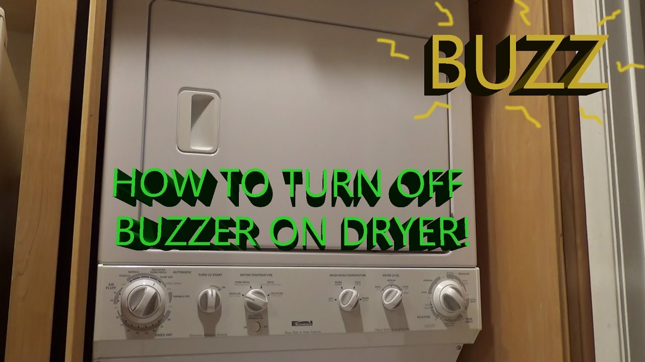 How to Turn Off Dryer Buzzer  YouTube