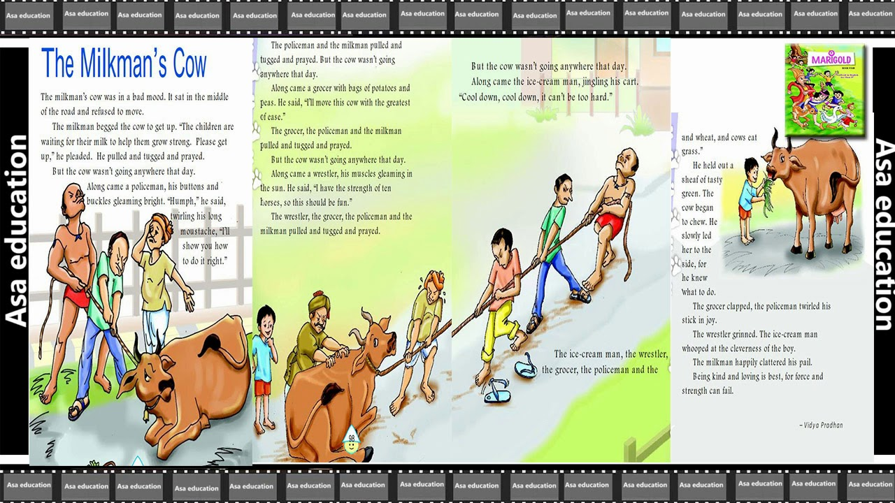 Ch 6 The MilkMan's Cow (English - Marigold, Grade 4, CBSE) Story in Easy  Hindi/English