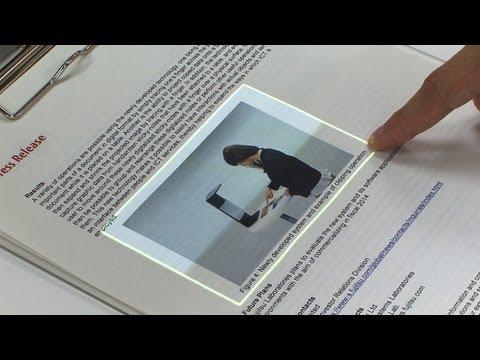 富士通の新技術で、リアル紙をフリック操作できるようになるぞー