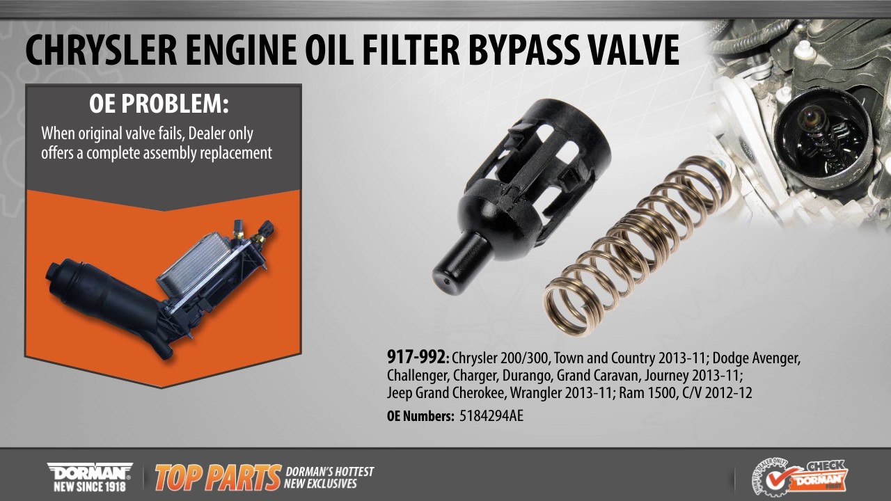 Highlighted Part Engine Oil Filter Bypass Valve For Select