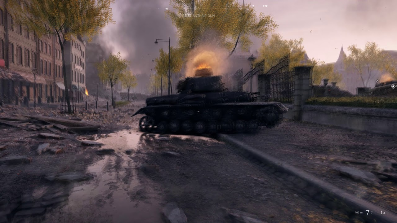 Battlefield 5 campain The Last Tiger Reach the AA gun without alerting any  enemies