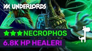★★★ NECROPHOS 6.8K HP Healer Tank! #1 New Meta Builds! | Dota Underlords