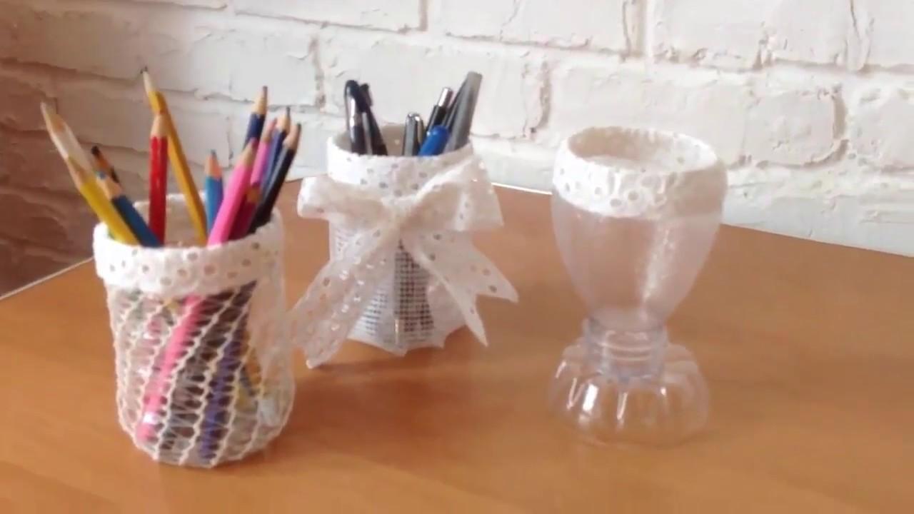 اعادة تدوير زجاجات بلاستيك لتحف فنية Diy Plastic Bottles Cups