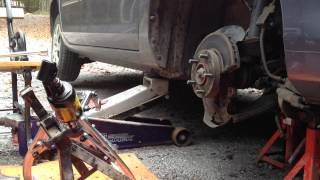 Rusty Rotor Removal With Gear Puller
