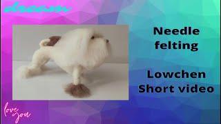 Needle felting Lowchen dog breed short video