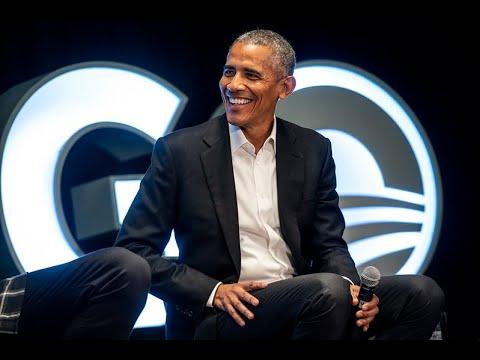 President Obama chats