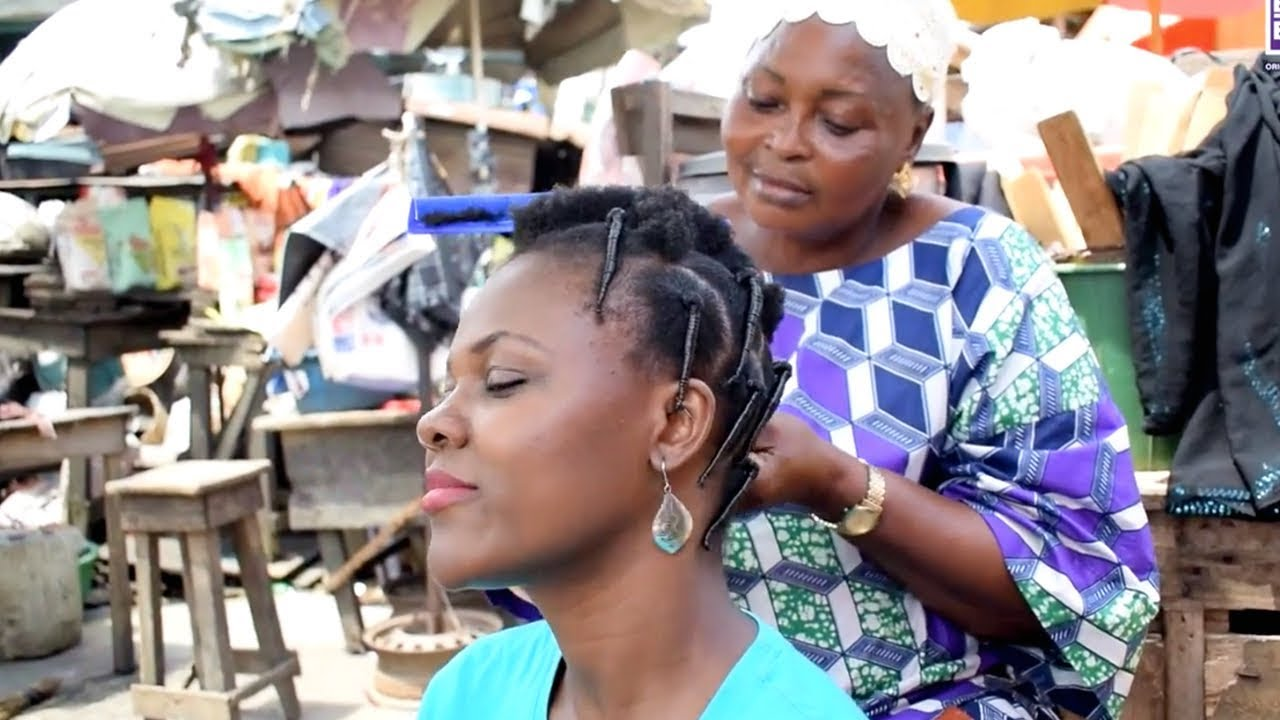 How to make Traditional Nigerian Hairstyles - YouTube