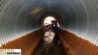 Finding Big Gold In Culvert Pipe!