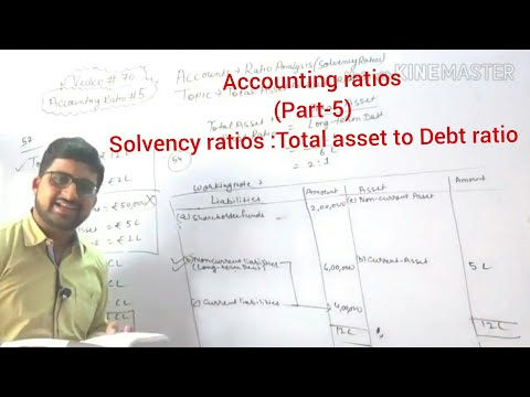 #70,class 12 accounts:accounting ratios(Total asset to debt ratio)