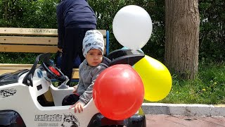 Akülü Arabamıza Balon Bağladık Nil Balonları Patlattı