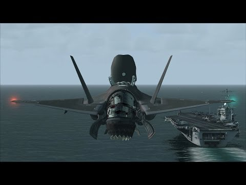 FSX F-35 Carrier Ops near San Diego [AWESOME GRAPHICS]