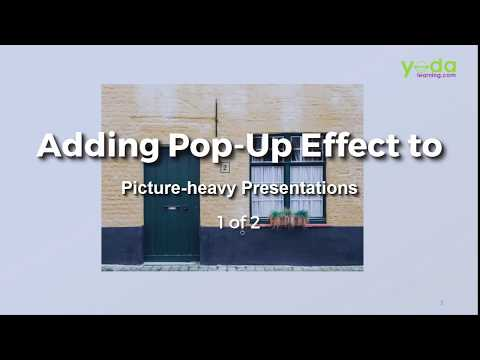 Adding POP-Up Effect to