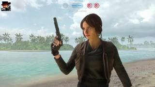 STAR WARS Battlefront Rogue One: Scarif Walker Assault gameplay (No commentary)