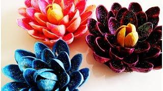 יצירת פרח מקליפות של פיסטוק
