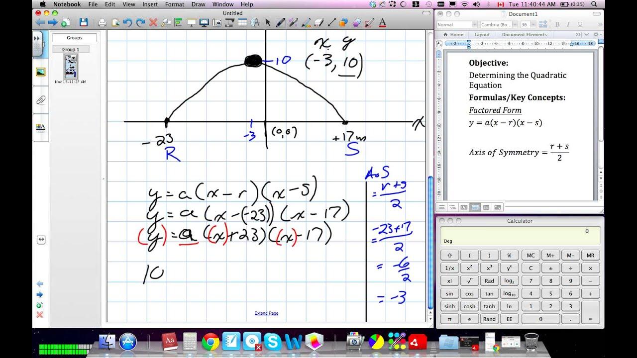 Solving Quadratic Equations Using Factored Form Grade 10 Academic Lesson 4 5 6 10 11 15 11