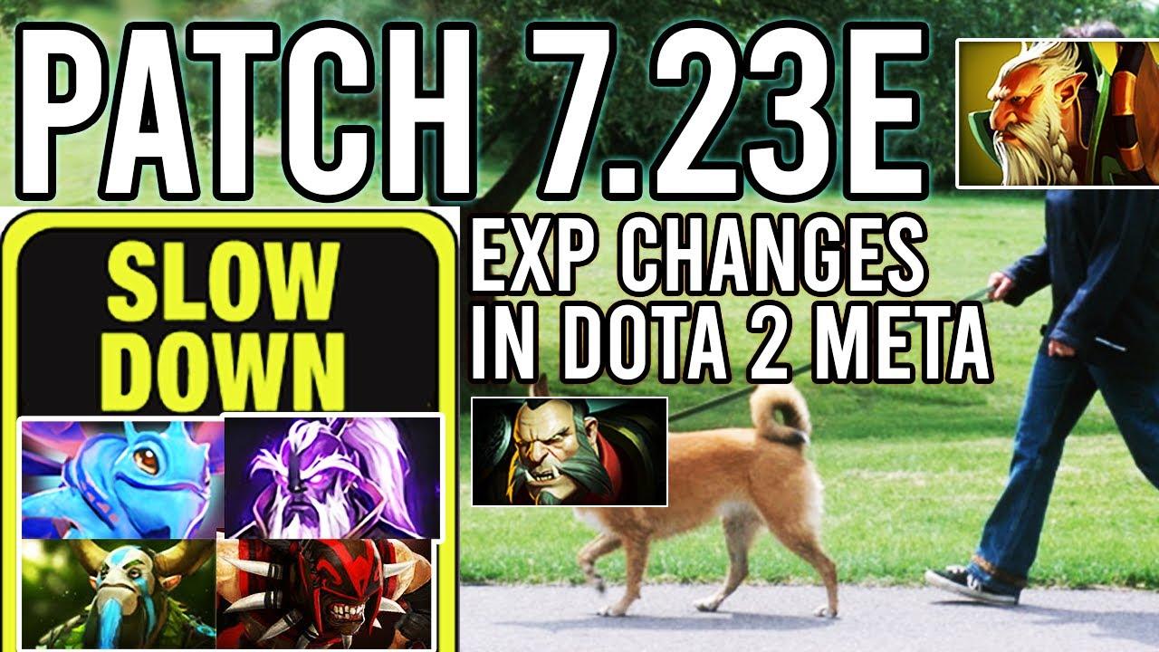 Valve is SLOWING DOTA DOWN – Dota 2 Patch 7.23e – Meta, Map, XP Changes