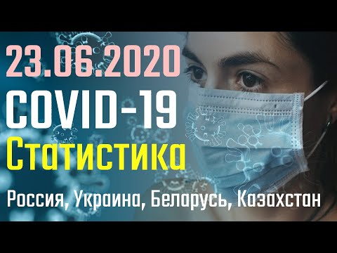 Коронавирус статистика 23 Июня | Россия, Украина, Беларусь, Казахстан | и топ 10 стран | COVID-19