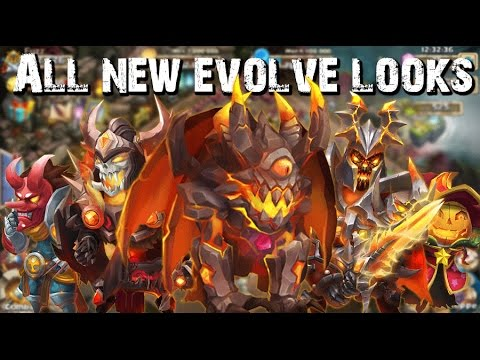 Castle Clash ALL The New Evolve Looks!!