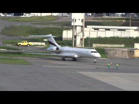 Global Express PR-VDR landing and takeoff at SBBH/PLU