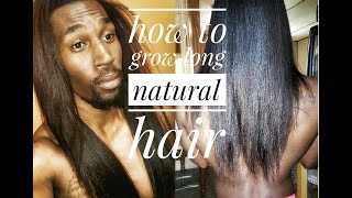 How to Grow Long Natural Hair: 21 Inches Long