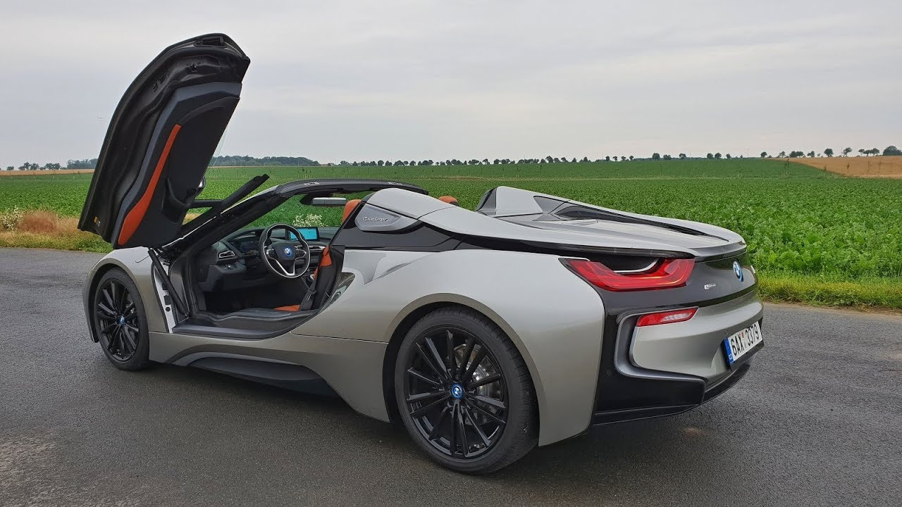 Bmw I8 Roadster Engine Sound Acceleration Roof Up Down Youtube
