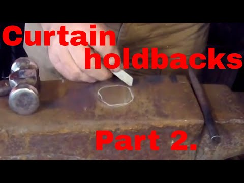 Curtain holdbacks. Part 2.