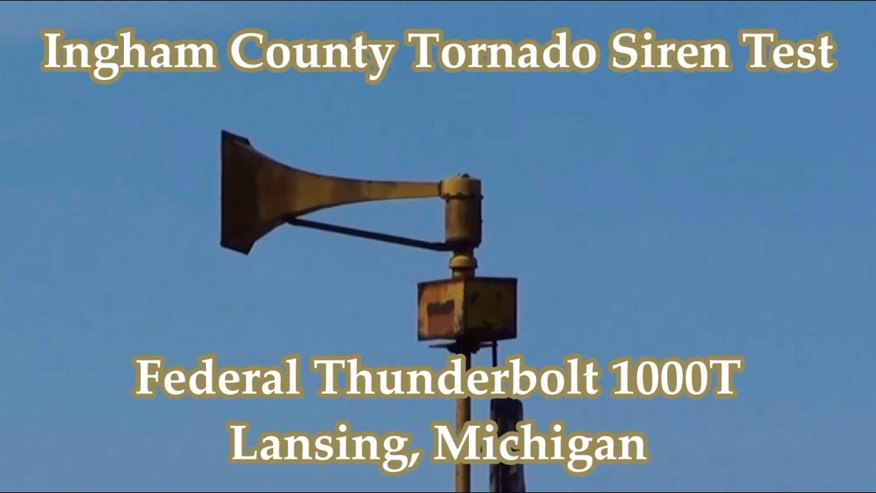 lansing, mi federal thunderbolt 1000t siren test - youtube
