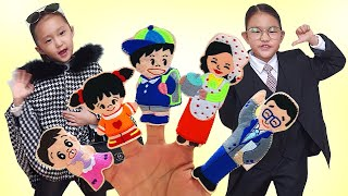 Finger Family Song | Daddy & Mommy Song | Nursery rhymes & Fantastic kids song 핑거 패밀리 | 엄마 아빠 변장 놀이