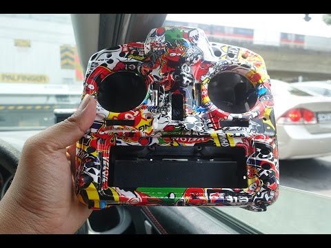 Hydrodip Taranis X9D Plus for Sasha in Stickerbomb Pattern - DipGraphics.com