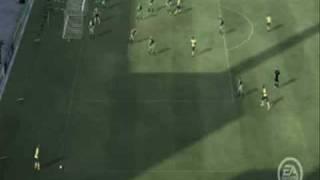 Fifa 2009 - Barca Amazing Cornerkick!