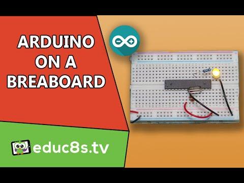 Arduino Uno (ATMEGA328P) on a breadboard Tutorial DIY project  Easy guide