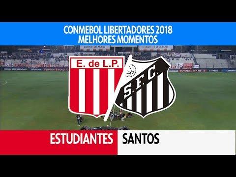 Melhores Momentos - Estudiantes-ARG 0 x 1 Santos - Libertadores - 05/04/2018