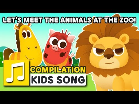 LET'S MEET THE ANIMALS AT THE ZOO!   22MIN   LARVA KIDS   SUPER BEST ANIMAL SONGS FOR KIDS
